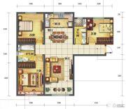 海亮滨河壹号3室2厅2卫130平方米户型图