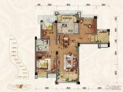 淄博碧桂园3室2厅1卫99平方米户型图