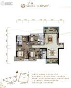 清溪碧桂园3室2厅2卫0平方米户型图