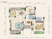 奥园国际城3室2厅2卫0平方米户型图