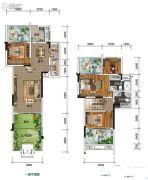 南方格林雅墅3室2厅3卫140平方米户型图
