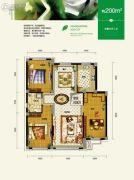总部生态城・璧成康桥5室3厅2卫200平方米户型图