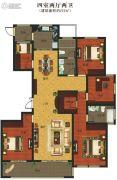 义乌城4室2厅2卫215平方米户型图