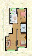 黎明荣府2室1厅1卫55平方米户型图