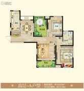 御翠园3室2厅1卫123平方米户型图