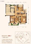三水润园二期3室2厅2卫100平方米户型图