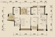 中锴・华章4室2厅2卫145平方米户型图