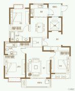 利港银河广场3室2厅2卫129平方米户型图