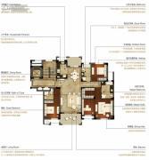 洛城中央御景3室2厅3卫168--177平方米户型图