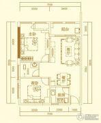 万秀城2室2厅1卫78平方米户型图