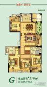 海星御和园4室2厅2卫170平方米户型图