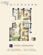 泾渭分明生态半岛3室2厅2卫102平方米户型图