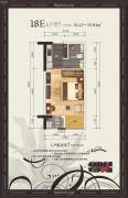 美泉16121室1厅1卫34--35平方米户型图