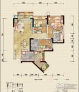 恒邦・时代青江二期3室2厅2卫83平方米户型图