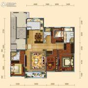 远洋大河宸章4室2厅3卫193平方米户型图