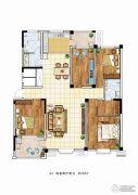理想城4室2厅2卫162平方米户型图