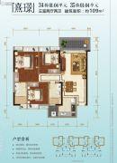 碧桂园荔山雅筑3室2厅2卫109平方米户型图
