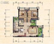 珠江城2室2厅0卫66平方米户型图