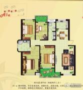 河畔花城4室2厅2卫140--145平方米户型图