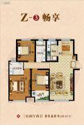 保利海德公馆3室2厅2卫128平方米户型图