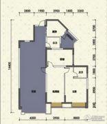 嘉州新城十期3室2厅2卫106平方米户型图
