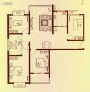 水岸华府4室2厅2卫140平方米户型图