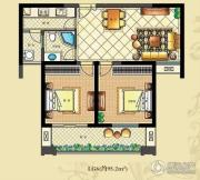 佳源・公园一号2室2厅1卫95平方米户型图