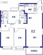 恒大御景湾3室2厅2卫138平方米户型图