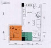 嘉珠时代广场1室1厅1卫41平方米户型图