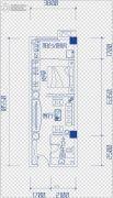 鑫天偶寓1室1厅1卫0平方米户型图
