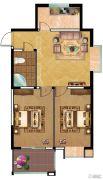 富业・景颐花园2室1厅1卫87平方米户型图