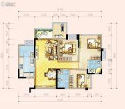 蓝光香江国际二期3室2厅2卫0平方米户型图