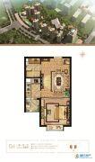 万和城1室1厅1卫52平方米户型图