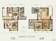 白鹿洲华府5室3厅5卫243平方米户型图