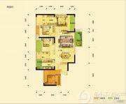 滨湖俊园3室2厅2卫0平方米户型图