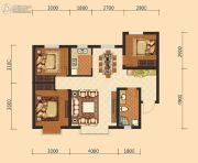伊水湾3室2厅1卫97平方米户型图