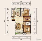 建业龙城3室2厅2卫145平方米户型图