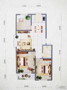 盛世华庭3室2厅1卫115平方米户型图
