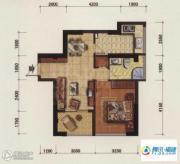 海韵国际城1室2厅1卫53平方米户型图