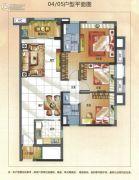 万科华府3室2厅2卫106平方米户型图