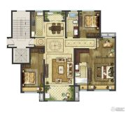 御香园3室2厅2卫0平方米户型图