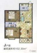 盛锦花园2室2厅1卫102平方米户型图