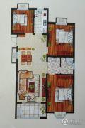 天中国际3室2厅1卫115平方米户型图