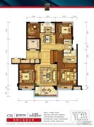 德信海德公园4室2厅2卫125平方米户型图
