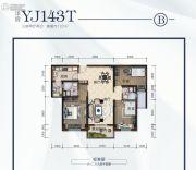 碧桂园・悦华府3室2厅2卫122平方米户型图