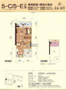 彰泰峰誉1室1厅1卫41平方米户型图