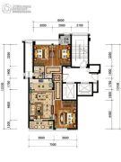 绿城・风华园3室2厅1卫97平方米户型图
