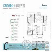 建业十八城5期山水湖城3室2厅2卫141平方米户型图