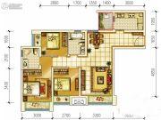 首创光和城3室2厅2卫87平方米户型图