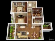 燕南山庐3室2厅1卫89平方米户型图
